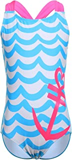 LEINASEN One Piece Bathing Suits for Girls, Kids Racer Back Swimsuit