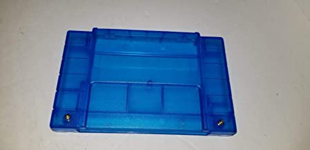 Clear Blue SNES Super Nintendo Replacement Shell Cartridge Case W/Screws U4