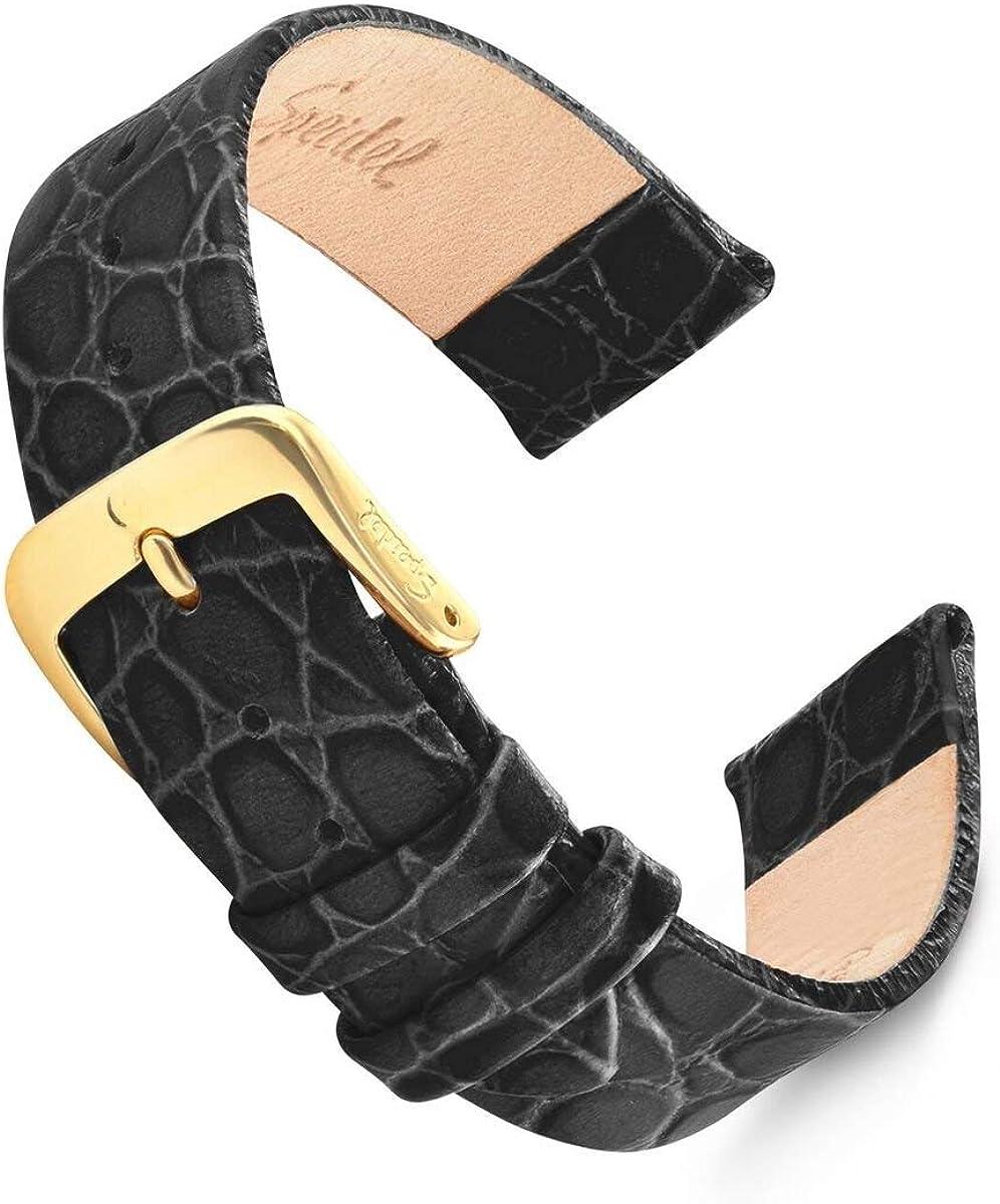 Speidel Genuine Leather overseas Watch Band Classic Grain 18mm Crocodile Chicago Mall