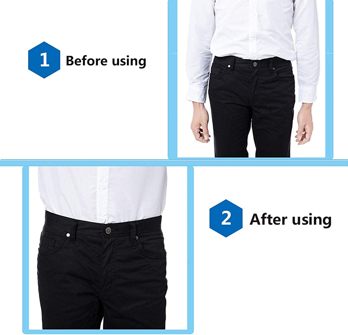 Mens Shirt Stays Garters Suspenders Shirt Holder Straps with Non-slip Locking Clamps