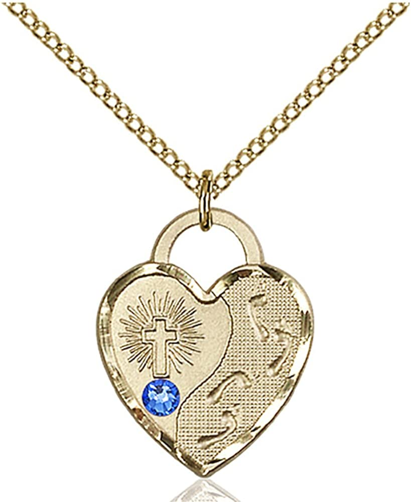 Bonyak Jewelry Industry No. 1 Bargain sale Gold Filled Footprints 3mm Sep Pendant with Heart