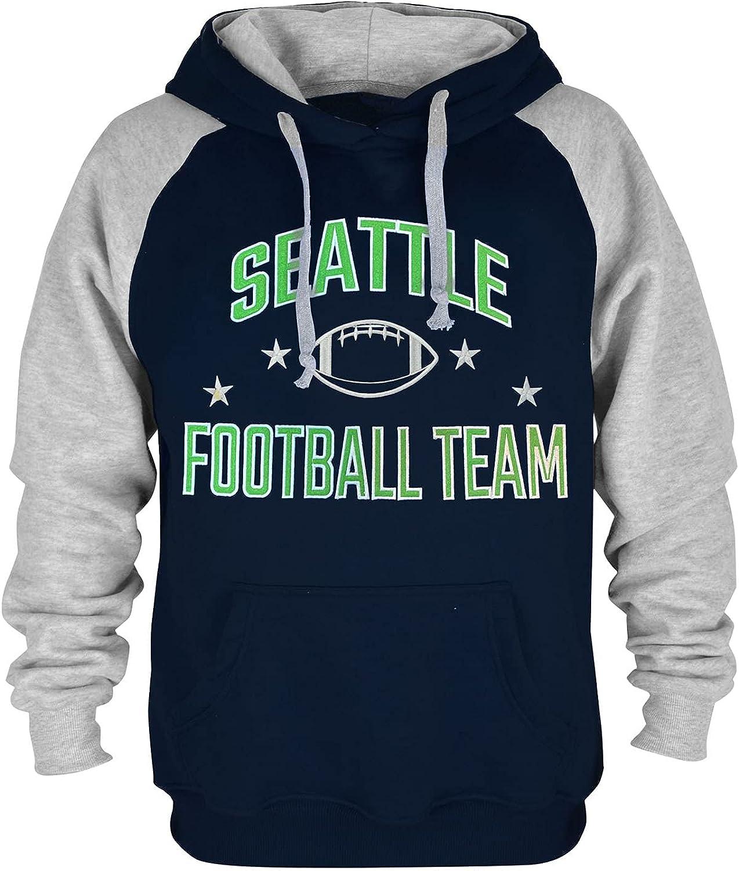 Mens City Classic Football Embroidery Soft Cotton Sweatshirt Hoodie