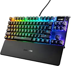 SteelSeries Apex 7 TKL Mechanical Gaming Keyboard, OLED Display, Red Switches, American QWERTY Layout