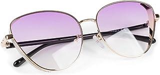 styleBREAKER - gafas de sol de mujer de ojos de gato con elemento brillante en las lentes, montura de metal y lentes de policarbonato, forma de ojos de gato, «look retro» 09020104