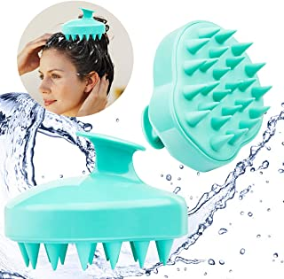 Hair Scalp Massager, Pack of 2 Ondder Hair Shampoo Massage Brush/Body Washing Massager/Soft Silicone Comb/Shower Hair Brus...