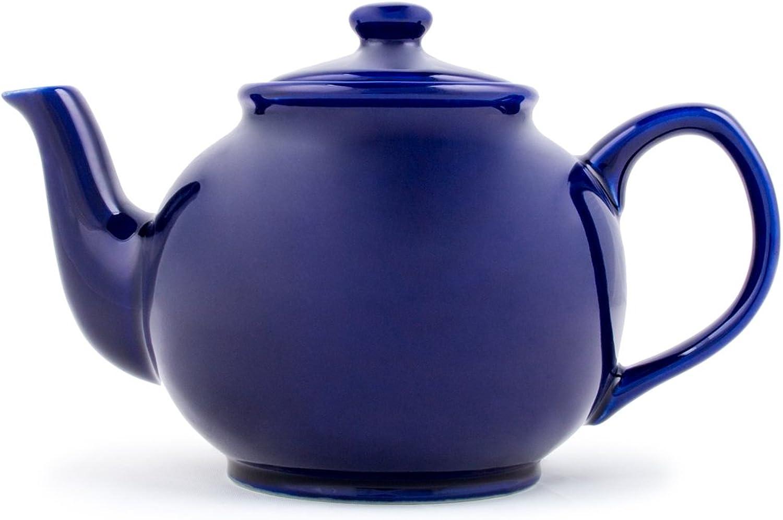Fox Run 39869 Earthenware Teapot, 55Ounce, bluee