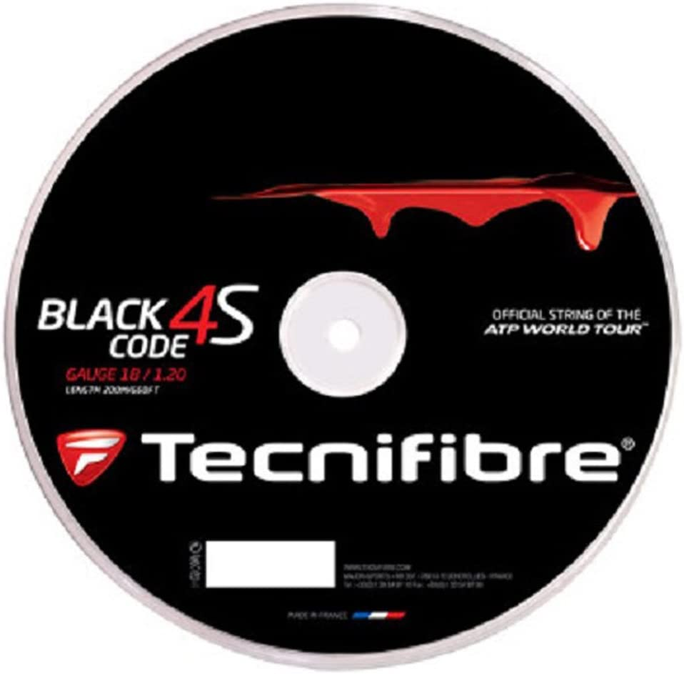 Tecnifibre Black Code 4S 1.30mm 16 Tennis Gauge String Cheap mail order specialty store 200 Met Elegant