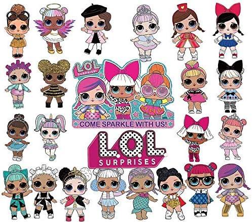 LOL 24pcs Cupcake Toppers Girls Topper Set