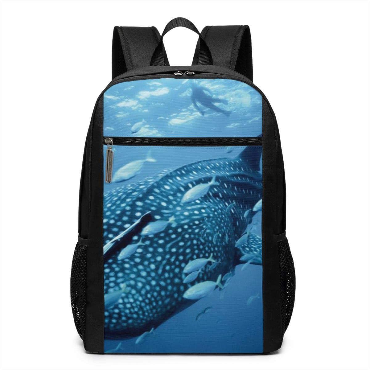 Oxford Unisex Travel Business Superbreak Daypack Whale Shark Slim Laptop School Bags Adult Casual Backpack