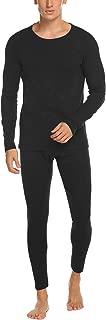 Men's Thermal Underwear Set Wicking Top and Pant Base Layer Long John for Men