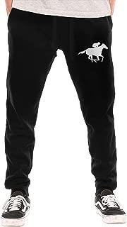 Yecx-1 Mens Baseball Heartbeat Casual Cotton Jogger Sweatpants,Gym Beam Trousers
