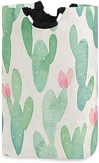 CaTaKu Panier à linge avec fleurs succulentes et cactus galaxie - Grand espace de rangement - Étanche - Facile à transport...