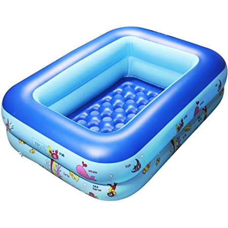 Kitcheb Inflatable Pool Childrens Inflatable Swimming Pool Household Baby Wear-Resistant Thick Marine Ball Pool