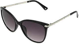 Nine West Women's Jess Sunglasses Cateye, Black, 54mm