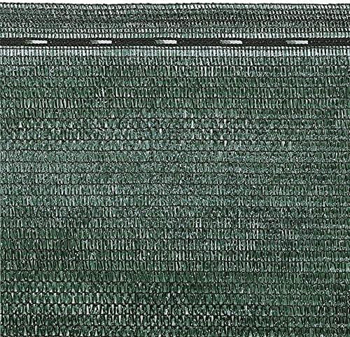 Rete Ombreggiante Frangivista Telo Ombra Telone Per Giardino, Per Rete Metallica Esterno Schermante Rotolo Verde Scuro Copertura Oltre 90% Con Stabilizzazione UV ED Asole Rinforzate (1 x 25 M)
