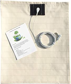 Grounding Sheet with Grounding Cord,Made with Premium Cotton and Pure Silver Threads,Conductive Fabric,Achieve Healthy Sle...