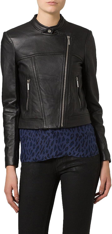 Brand New Genuine Soft Lambskin Leather Jacket For Women's Designer Wear LTN156