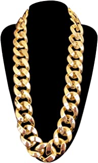 Men's Chunky Necklace, Rapper Fake Gold Chain 90s Hip Hop Fake Gold Necklace Costume Accessory (27.5 Inches1.37inches)