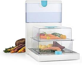 Klarstein Steam Spa - Cuiseur vapeur electrique compact repliable 2 compartiments de cuisson pour légumes, viande, poisson...