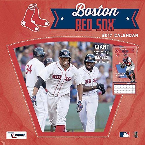 "Turner Licensing Sport 2017 Boston Red Sox Team Wall Calendar, 12""X12"" (17998011843)"
