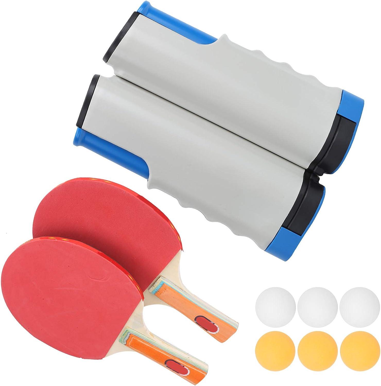 BOLORAMO Juego de Tenis de Mesa, fácil de Instalar, no resbala, construye músculos, Herramienta de Entrenamiento de Tenis de Mesa, Material ABS para Jugar al Aire Libre