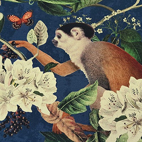 Werthers Stoffe Stoff Meterware Baumwolle Tiere bunt Kakadu AFFE Dschungel Dekostoff Digitaldruck Fotodruck