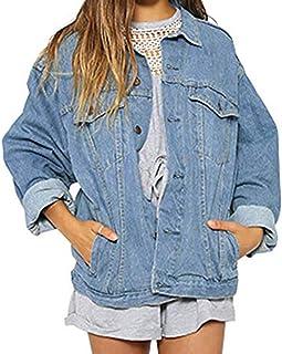 ab0d356380 Manteau en Jeans Femme Denim Hiver Loisirs éLéGant Vintage Veste Ado Fille  à La Mode Ample