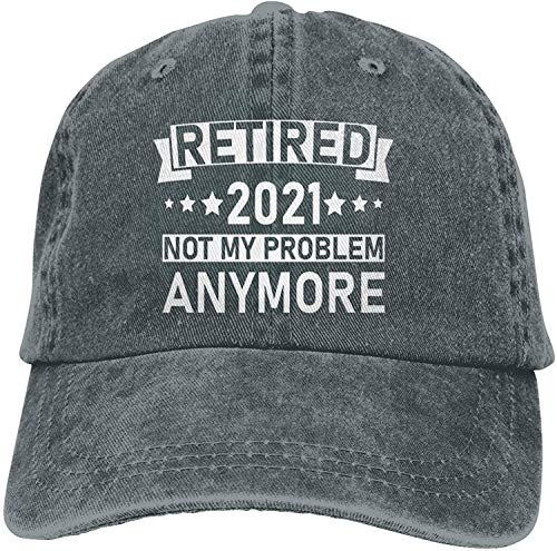 Retired 2021 Not My Problem Anymore Hat,Vintage Retirement Adjustable Hat Unisex Washad Cotton Baseball Cap Dad Hat-Deep Heather 1-One Size