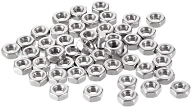 Best uxcell Hex Nuts, M4x0.7mm Metric Coarse Thread Hexagon Nut, Stainless Steel 304, Pack of 50 Review