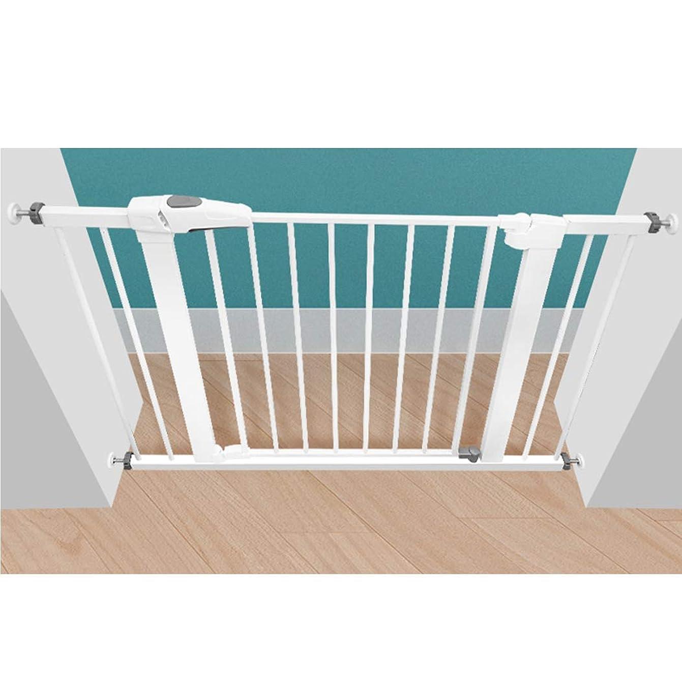 背景アルファベット順細胞ペット柵 安全フェンス フェンス 犬用バリア?ゲート 簡単設置 寝室/キッチン/階段/玄関/ベランダ 子供/犬/猫 壁に穴を開けず(Color:高さ76cm,Size:166-173CM)
