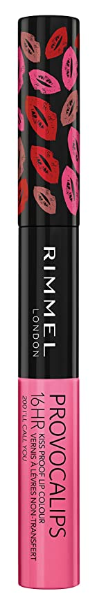 悪性の免除絶妙RIMMEL LONDON Provocalips 16Hr Kissproof Lip Colour - I'll Call You (並行輸入品)