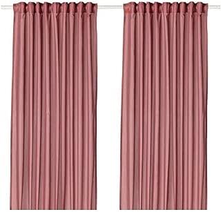 IKEA Vivan Curtains 1 Pair Pink 704.108.62 Size 57x98 ½