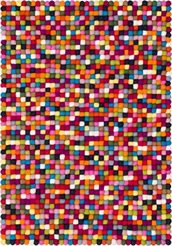 myfelt R de 001–030–050Fieltro Bola Alfombra Lotte––30x 50cm Fieltro Bola Alfombra, Fieltro, Multicolor, 30x 50x 2cm