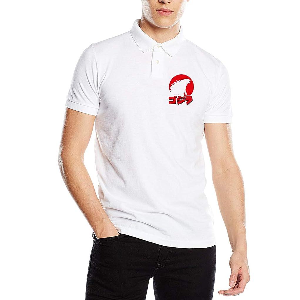 横にセンチメートルホールドオールポロシャツ 半袖 夏用メンズシャツ ゴジラ ボタンダウンポロシャツ スポーツウェア Tシャツ ティーシャツ シンプル カジュアル 通気性 吸汗性 快適 無地 薄手 テニス ゴルフ
