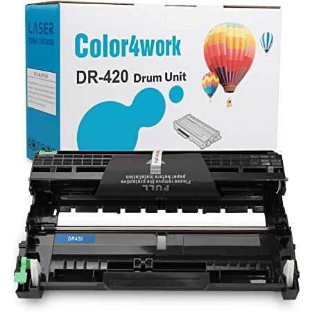 Color4work Compatible Drum Unit Brother DR420 DR-420 Drum Unit use for Brother HL-2270DW 2280DW HL 2240 MFC-7860DW 7060D IntelliFax 2840 MFC-7460DN MFC 7365DN MFC7360N (Negro,12000 Yield) 1Pack