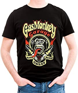 Gas Monkey Garage Officially Licensed Spark Plugs 3XL,4XL,5XL Mens T-Shirt (Black)