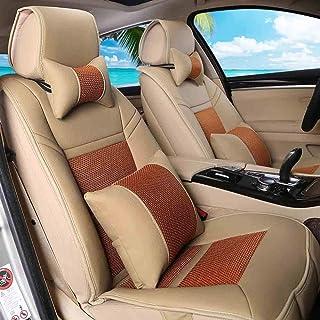 JKHOIUH Fundas de asientos delanteros, fundas de alfombrillas protectoras de asientos, se ajustan a la mayoría de los vehículos, automóviles, sedán, camión, SUV, Van Four Seasons Hyundai ix35 Roewe 55