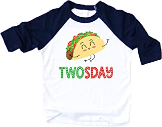 Taco Twosday Taco Shirt for Boys 2nd Birthday Fiesta Themed Birthday Outfit