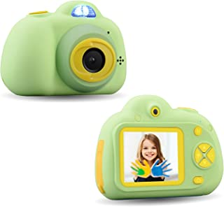 CamKing Kids Digital Camera Kids Camera 8MP 2.0 Inch Screen Portable Compact Children's Cartoon Digital Front and Rear Dual Camera as a Gifts for Kids,Kids Camera with Game and Distorting Mirror
