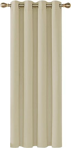 Deconovo Cortinas Salón Opacas, 140x260 cm(Ancho x Alto), Dormitorio Moderno, Opacas Suaves, con Ojales, Beige Oscuro...