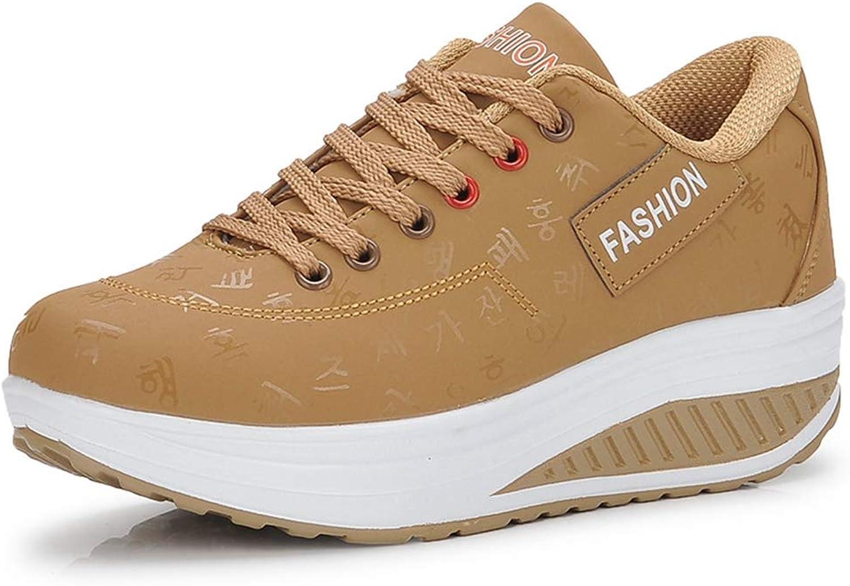 Hoxekle Women Wedge Heel Breathable Waterproof Sneakers Platform Slip On Female Antislip Sport Outdoor Casual shoes