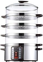 ZHGUO Légumes vapeur riz cuiseur électrique vapeur Appliance alimentaire à vapeur de légumes vapeur 4 Niveau Shut superpos...