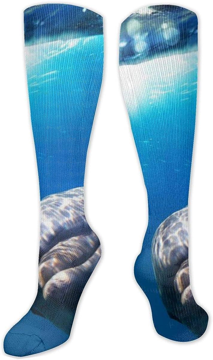 Gray Whale Shark Dolphin Knee High Socks Leg Warmer Dresses Long Boot Stockings For Womens Cosplay Daily Wear