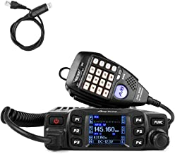 AnyTone AT-778UV Mobile Radio Dual Band VHF/UHF 136-174/400-490MHz Car Radio 25W Amateur Two Way Radio w/Cable