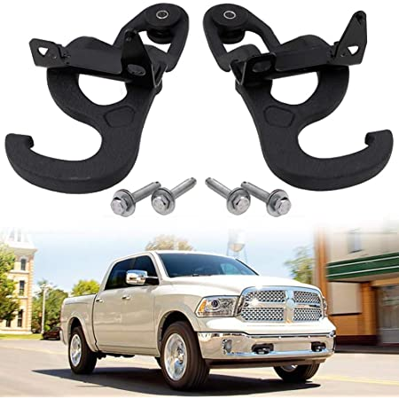 ENIXWILL Ram Front Tow Hooks Fit for 2009-2019 Dodge Ram 1500 Replace OEM 82210967 68196982AA
