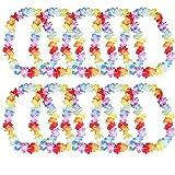 Hosaire 10Pcs Couronnes de Fleurs Unisexe Guirlande Hawaïenne Collier de Guirlandes Accessoires Belle Decor Parfait pour Scènes Photo Vacances