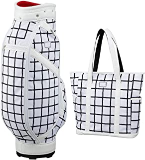 Golf Bag, Two-Piece Handbag, Lightweight and Portable, Waterproof Material, Multi-Color Optional happyL (Color : White)