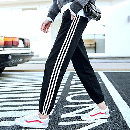 Brilliant firm Pantalon de Jogging en Coton pour étudiant (Color : Black, Size : XXL)
