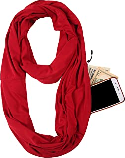 JOKHOO Infinity Scarf Wrap with Secret Hidden Zipper Pocket, Best Travel Scarfs