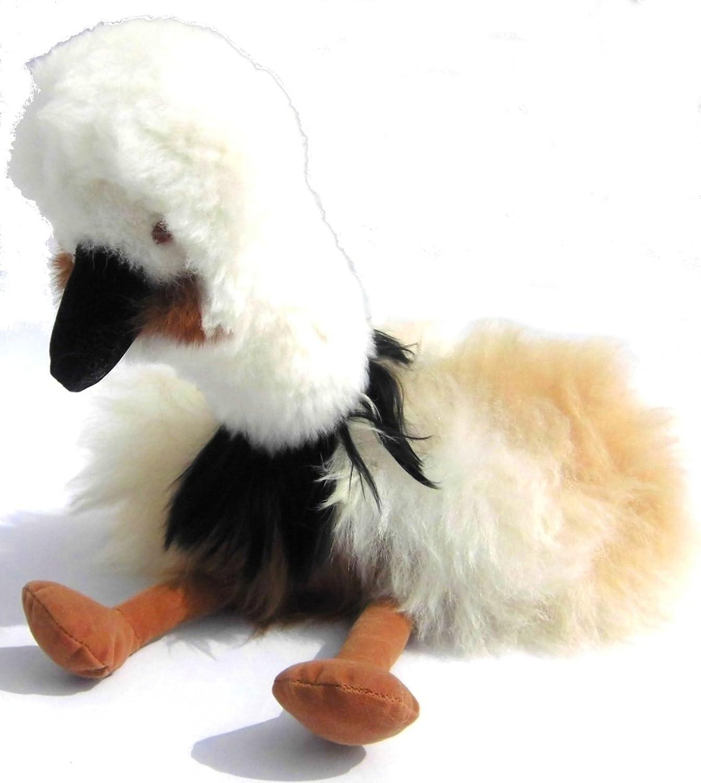 Alpacaandmore Vogel Figur Kuscheltier Alpakapelz 30 cm Handgemacht in Peru